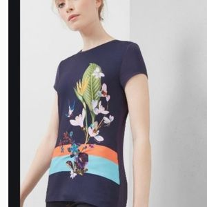 Ted Baker London Tropical Oasis Fitted Tee